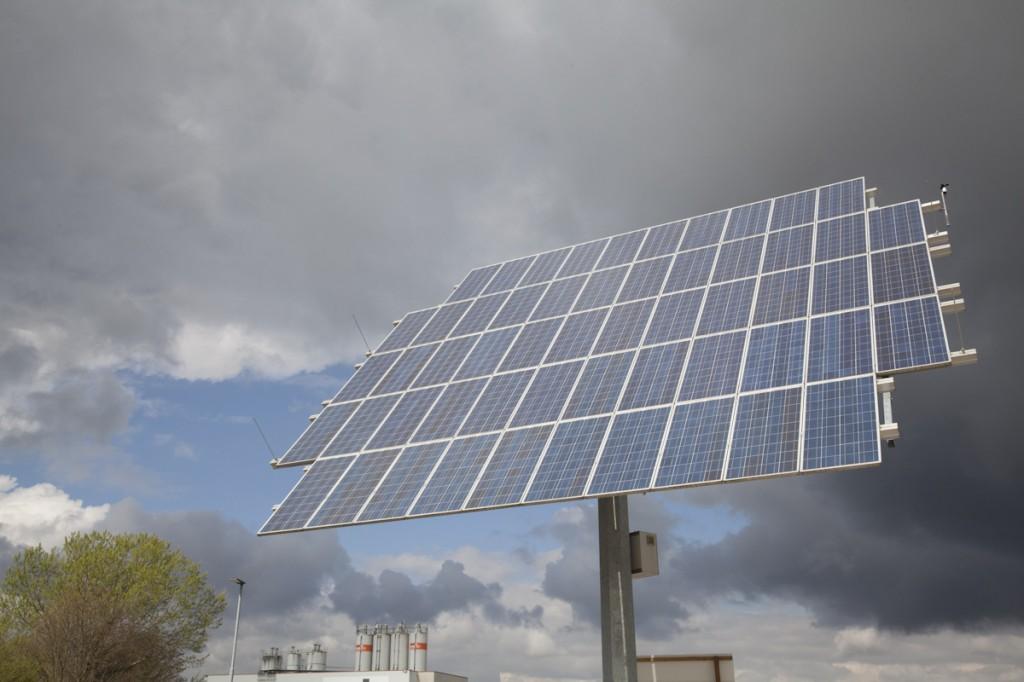 Nachführende Solaranlage