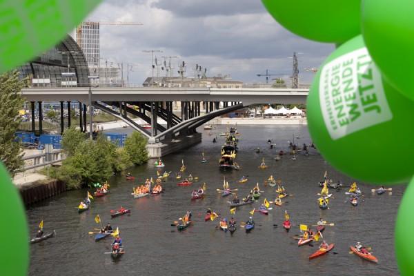 Energiewende-Demonstration auf dem Wasser am 10.Mai 2014
