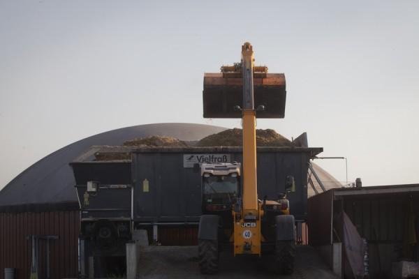 """""""Fütterung"""" der Biogasanlage"""